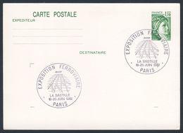 France Rep. Française 1982 Card / Karte / Carte Postale - Exp. Ferroviaire - La Bastille, Paris / Railway Exhibition - Treinen