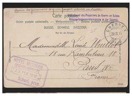 """SUISSE -- WWI -1916- CARTE EN FRANCHISE -- MARQUE LINEAIRE BILINGUE --""""INTERNEMENT DES PRISONNIERS DE GUERRE EN SUISSE""""- - Schweiz"""