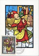 35977 France, Maximum 1963 Vitrail Glas Window Glasfenster,cathedral Of Ste Foy Yvert 1377 - Vetri & Vetrate