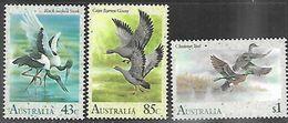 Australia  1991   Sc#1204-6   3 Diff Water Birds   To The $1  MNH**  2016 Scott Value $5.50 - 1990-99 Elizabeth II