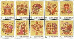 2018 TAIWAN GREETING  Stamp 10v - 1945-... Republic Of China