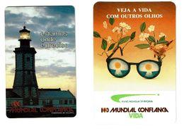 Portugal , MUNDIAL CONFIANÇA ,  1990 , Calendar , Calendrier , Insurance , Assurance , Seguros , Lighthouse , Bird - Calendari