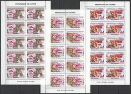 M962 2007 DE GUINEE FLORA & FAUNA ANIMALS ROSES ANIMAUX SAUVAGES !!! 10SET MNH - Briefmarken