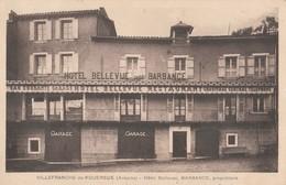 CPA 12 VILLEFRANCHE DE ROUERGUE HOTEL BELLEVUE BARBANCE - Villefranche De Rouergue