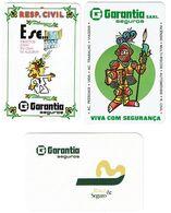 Portugal , GARANTIA ,  1984 , 1986 , 1988 , Calendar , Calendrier , Insurance , Assurance , Seguros - Calendari