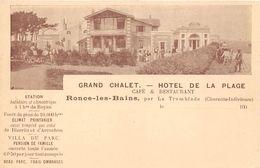 17-RONCE-LES-BAINS- GRAND CHALET - HOTEL DE LA PLAGE - France