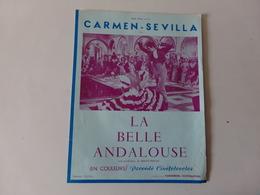 """Publicitaire Cinéma """" La Belle Andalouse """" Avec Georges Mistral Et Carmen Sévilla ( Déchirure ) - Cinema Advertisement"""