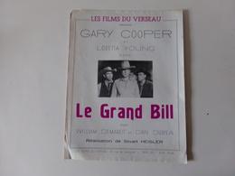 """Publicitaire Cinéma """" Le Grand Bill """" Avec Gary Cooper ( Pliures, Déchirures ) - Cinema Advertisement"""