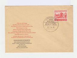Sur FDC De Berlin Du 25 Janvier 1954 N° 104, 20 P. Rouge. Conférence Des Quatre à Berlin. (590) - [5] Berlin