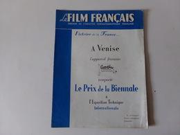 """Magazine """" Le Film Français """" N° 202 Octobre 1948 """" Victoire De La France à Venise """" - Magazines"""