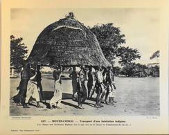 """MOYEN-CONGO - N°257 Transport D'une Habitation - Collection """"Pour L'Enseignement Vivant"""" - Colonies Françaises - TBE - Collections"""