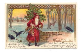 WEIHNACHTEN - WEIHNACHTSMANN / SANTA, 1901, Geprägt / Embossed / Relief - Santa Claus