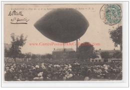 SAINT QUENTIN : Le Ballon Laché En 1903 - Bon état (un Coin Plié) - Saint Quentin