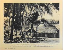 """OUBANGHI-CHARI - N°258 Village Indigène En Brousse - Collection """"Pour L'Enseignement Vivant"""" - Colonies Françaises - TBE - Collections"""
