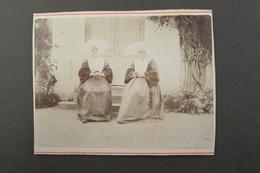 Photo Ancienne 2 Nonnes Religieuses Coiffes - Vers 1880 - Montée Sur Carton 11,5 X 9 Cm - Old (before 1900)