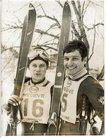 SKI PHOTO ORIGINALE  Georges MAUDUIT SLALON GEANT MEGEVE 1968  AGENCE FRANCE PRESSE - Winter Sports
