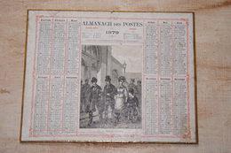Almanach Des Postes 1879 Avec Des Gouaches De 1868 Au Verso Attribué à Victor Tourneux - Calendari