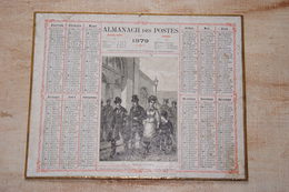 Almanach Des Postes 1879 Avec Des Gouaches De 1868 Au Verso Attribué à Victor Tourneux - Kalenders