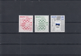 Estonia 22.06.1992 Mi # 180-82 Barcelona Summer Olympics MNH OG - Verano 1992: Barcelona