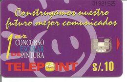 Télécarte Du PEROU - 10 Soles 1er CONCURSO ESCOLAR DE PINTURA (Utilisée) - Pérou