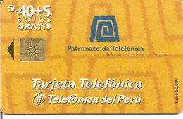 Télécarte Du PEROU - 10 Soles 1er CONCURSO DE ARTES PLASTICAS TELEFONICA (Utilisée 1997) - Pérou