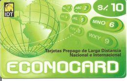 Télécarte Du PEROU - ECONOCARD Prépayée IDT - Peru