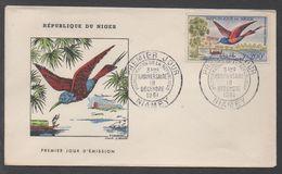 OISEAUX - BIRDS - VOGEL / 1961 NIGER ENVELOPPE FDC ILLUSTREE (ref LE1026) - Niger (1960-...)