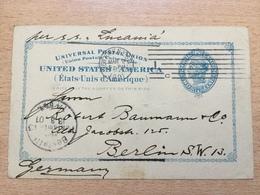 K5 USA Etats-Unis Stationery Entier Postal Ganzsache Psc From New York To Berlin - Ganzsachen