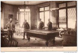 01. Chatillon Sur Chalaronne. Hotel De L'europe. L'estaminet. Carte Issue D'un Carnet - Châtillon-sur-Chalaronne