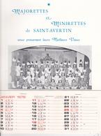 37. SAINT AVERTIN. MAJORETTES ET MINIRETTES DE SAINT AVERTIN PRESSENTENT LEURS VŒUX . CALENDRIER 1976 - Calendriers
