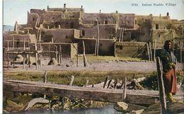 CPA (  Indien) Indian Pueblo Village  (amerique) - Amérique