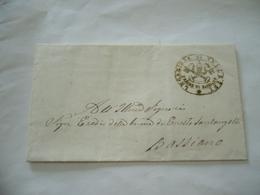 BOLLO DI FRANCHIGIA PRIORE DI BASSIANO CON STEMMA PONTIFICIO VELLETRI 1866 - Stato Pontificio