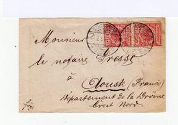 Sur Enveloppe Deux Timbres Reichspost 10 Pf. Rouge. Oblitération Stassburg 1891. (595) - Allemagne