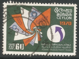 Ceylon. 1970 Asian Productivity Year. 60c Used. SG 565 - Sri Lanka (Ceylon) (1948-...)