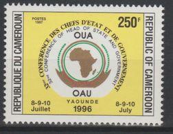 Cameroun Cameroon Kamerun 1997 250F Mi. 1223 OAU OUA Map Landkarte Carte Conférence Chefs D'Etat 8-9-10 Juillet - Cameroun (1960-...)