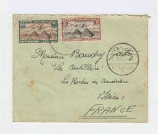 Sur Enveloppe Deux Timbres Poste Aérienne. Pyramides. Oblitération Août 1939. (596) - Poste Aérienne
