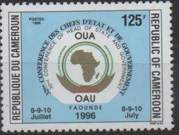 Cameroun Cameroon Kamerun 1996 125F Mi. 1221 OAU OUA Map Landkarte Carte Conférence Chefs D'Etat 8-9-10 Juillet - Cameroun (1960-...)