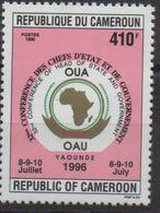 Cameroun Cameroon Kamerun 1996 410F Mi. 1224 OAU OUA Map Landkarte Carte Conférence Chefs D'Etat 8-9-10 Juillet - Cameroun (1960-...)