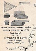Facture 1924 / LAMY CRETIN / Manufacture Boîtes En Bois / Fromages Beurre Pharmacie / 39 Bois D' Amont / Jura - France