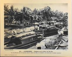 """COCHINCHINE - N°274 Sampans Sur La Rivière Thu Duc - Collection """"Pour L'Enseignement Vivant"""" - Colonies Françaises - TBE - Collections"""