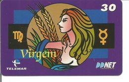 Télécarte Du BRESIL - Astrologie LA VIERGE (Telemar - Tirage 110 000) - Zodiac