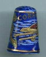 Dé à Coudre De Collection En Porcelaine - Corfu - (Corfou) - Grèce - Ditali Da Cucito