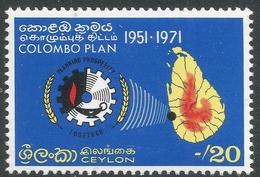 Ceylon. 1971 20th Anniv Of Colombo Plan. 20c MNH. SG 587 - Sri Lanka (Ceylon) (1948-...)