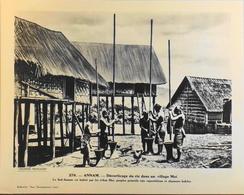 """ANNAM - N°276 Décortic. Du Riz Dans Un Village MOÏ - Collection """"Pour L'Enseignement Vivant"""" - Colonies Françaises - TBE - Collections"""