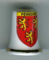 Dé à Coudre De Collection En Porcelaine - Périgord - Ditali Da Cucito