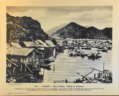 """TONKIN - N°277 Baie D'Along Village De Pêcheurs - Collection """"Pour L'Enseignement Vivant"""" - Colonies Françaises - TBE - Collections"""