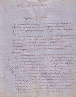 SAVOIE - MEUNERIE D'ARBIN - BEL & JALLABERT - LETTRE - 1866 - France