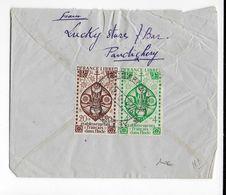 1946 - INDE FRANCAISE - ENVELOPPE De PONDICHERY => PARIS - Indien (1892-1954)