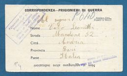 ITALIAN PRISONER OF WAR CAMP UNION SOUTH AFRICA  PRIGIONIERI DI GUERRA 1945 TO ANDRIA BARI - Documenti