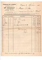 FACTURE PUZENAT FABRIQUE DE LINGERIE à DIGOIN SAONE ET LOIRE 1929 - France
